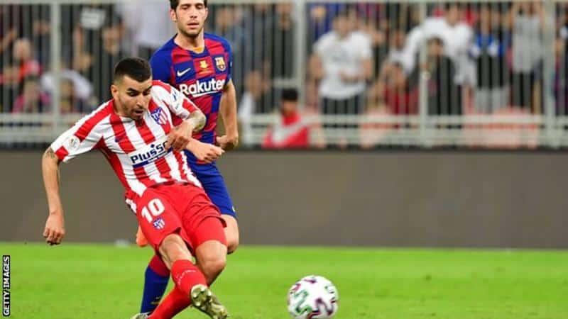 Barcelona 2-3 Atletico Madrid: Pemenang akhir Angel Correa mengirim Atletico ke final Piala Super Spanyol